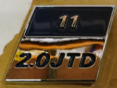 Fiat 2.0 JTD Badge 55mm x 55mm